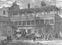 "PICCADILLY. The Yard of the Old ""White Bear"" Inn, about 1820. London c1880"